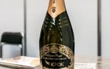 Золотая этикетка для шампанского.